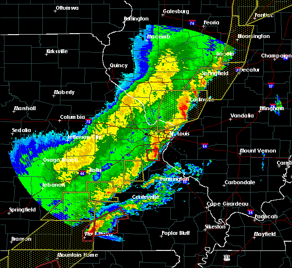 Radar Image for Severe Thunderstorms near Bunker, MO at 3/7/2017 12:50 AM CST