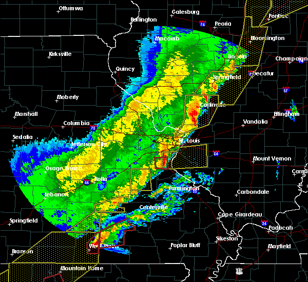Radar Image for Severe Thunderstorms near Waterloo, IL at 3/7/2017 12:52 AM CST