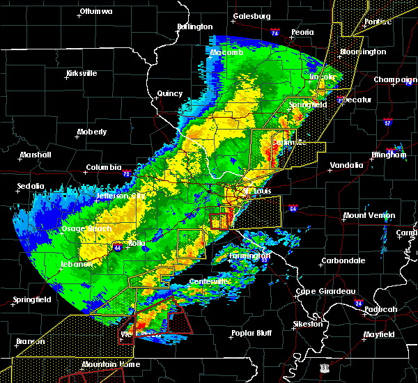 Radar Image for Severe Thunderstorms near Potosi, MO at 3/7/2017 12:57 AM CST