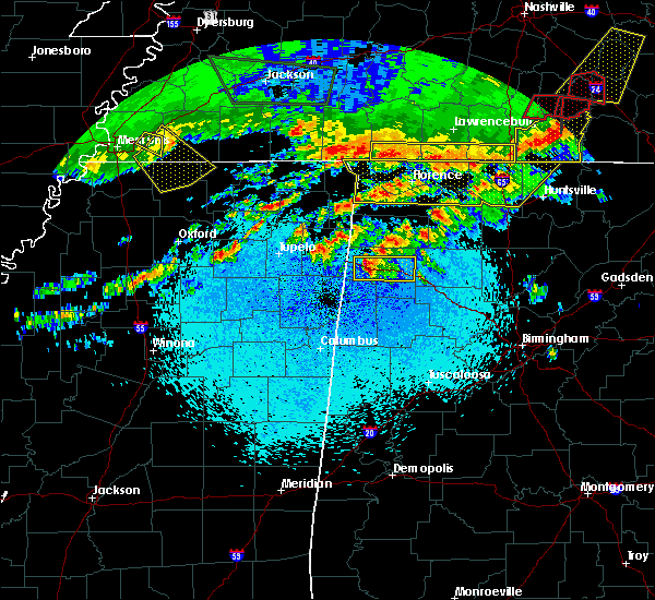 Radar Image for Severe Thunderstorms near Brilliant, AL at 3/9/2017 11:54 PM CST