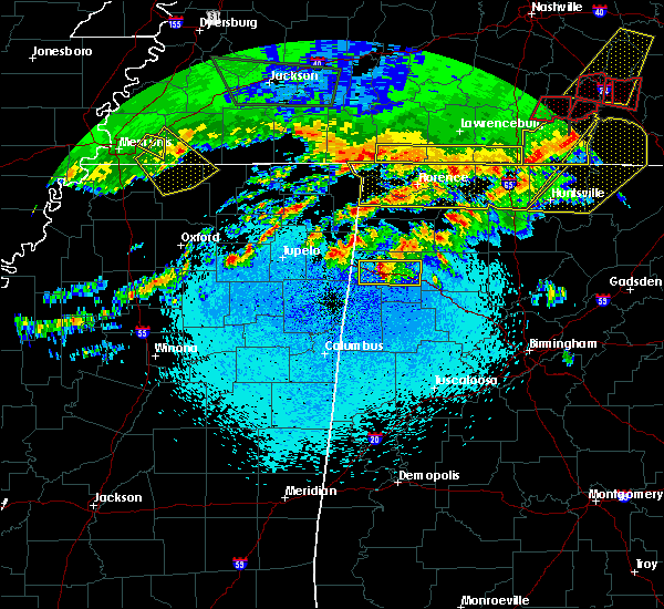 Radar Image for Severe Thunderstorms near Brilliant, AL at 3/10/2017 12:01 AM CST