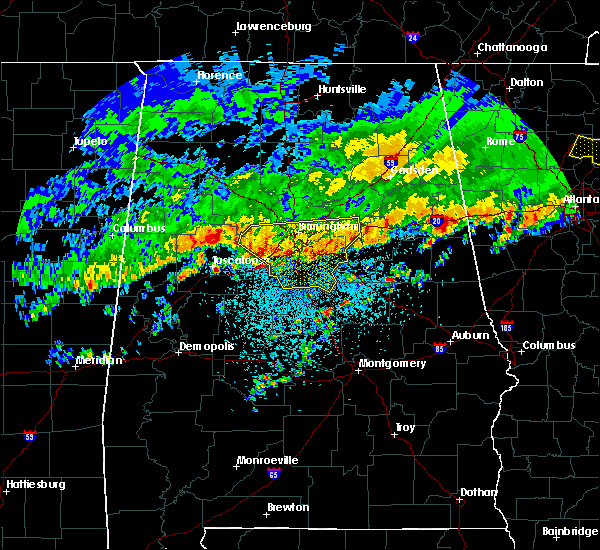 Radar Image for Severe Thunderstorms near Birmingham, AL at 3/10/2017 2:56 AM CST