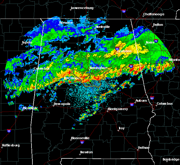 Radar Image for Severe Thunderstorms near Birmingham, AL at 3/10/2017 3:08 AM CST