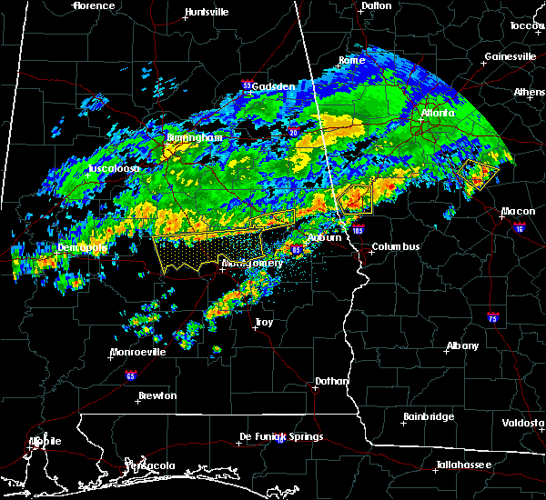 Radar Image for Severe Thunderstorms near Coosada, AL at 3/10/2017 4:05 AM CST