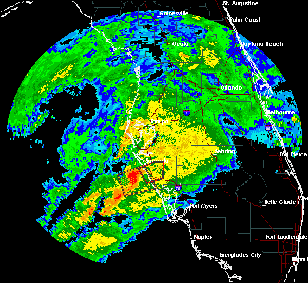 Radar Image for Severe Thunderstorms near Sarasota, FL at 3/13/2017 8:11 PM EDT