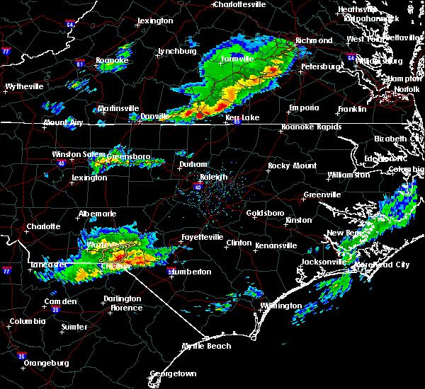 Radar Image for Severe Thunderstorms near Hamlet, NC at 3/18/2017 6:02 PM EDT