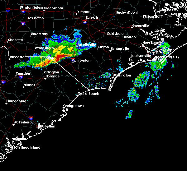Radar Image for Severe Thunderstorms near Orrum, NC at 3/18/2017 6:26 PM EDT