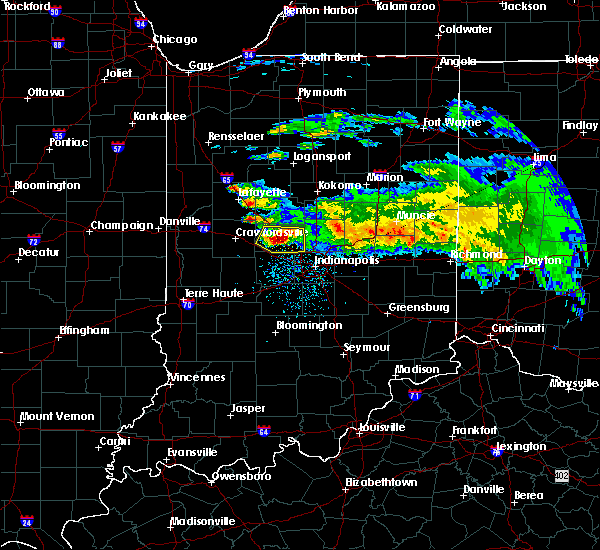 Radar Image for Severe Thunderstorms near Whitestown, IN at 3/20/2017 3:45 PM EDT