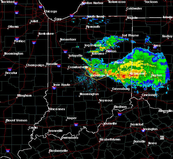 Radar Image for Severe Thunderstorms near Greenfield, IN at 3/20/2017 4:39 PM EDT