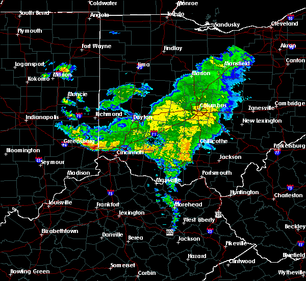 Radar Image for Severe Thunderstorms near Cincinnati, OH at 3/20/2017 6:13 PM EDT