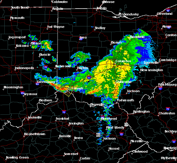 Radar Image for Severe Thunderstorms near Cincinnati, OH at 3/20/2017 6:22 PM EDT