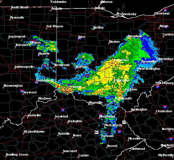 Radar Image for Severe Thunderstorms near Cincinnati, OH at 3/20/2017 6:37 PM EDT