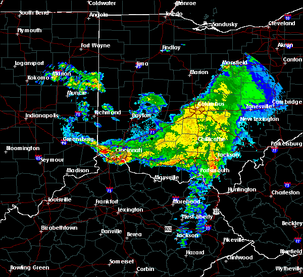 Radar Image for Severe Thunderstorms near Cincinnati, OH at 3/20/2017 6:40 PM EDT