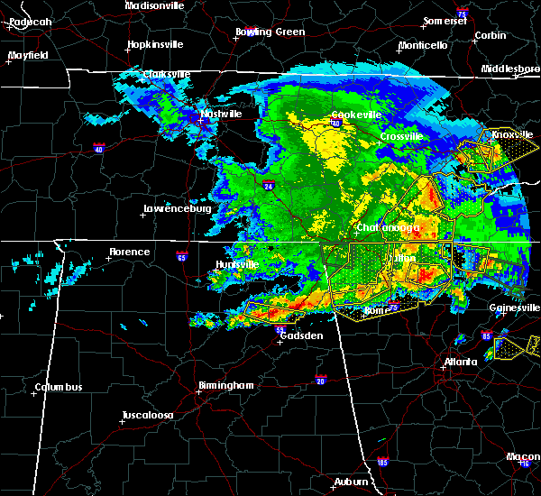 Radar Image for Severe Thunderstorms near Adairsville, GA at 3/21/2017 7:51 PM EDT