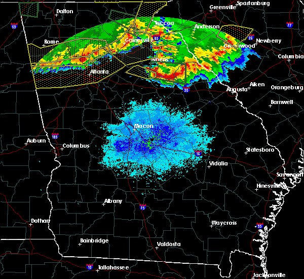Radar Image for Severe Thunderstorms near Watkinsville, GA at 3/21/2017 8:53 PM EDT
