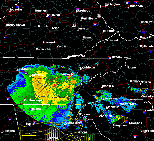 Radar Image for Severe Thunderstorms near Maryville, TN at 3/21/2017 8:57 PM EDT