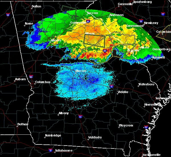 Radar Image for Severe Thunderstorms near Mitchell, GA at 3/21/2017 10:25 PM EDT