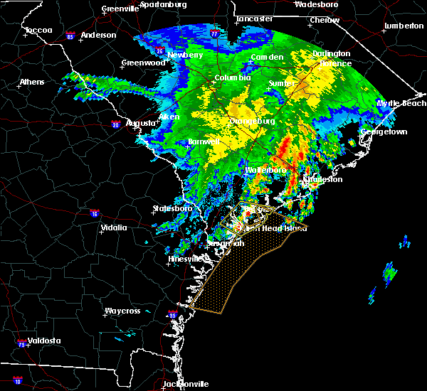 Radar Image for Severe Thunderstorms near North Charleston, SC at 3/22/2017 12:53 AM EDT