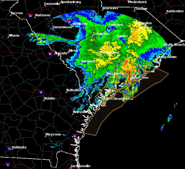 Radar Image for Severe Thunderstorms near Edisto Beach, SC at 3/22/2017 1:00 AM EDT