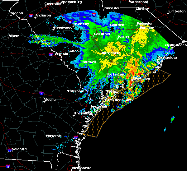 Radar Image for Severe Thunderstorms near North Charleston, SC at 3/22/2017 1:05 AM EDT