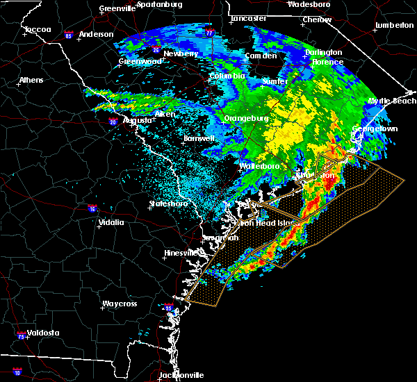 Radar Image for Severe Thunderstorms near Mount Pleasant, SC at 3/22/2017 1:32 AM EDT