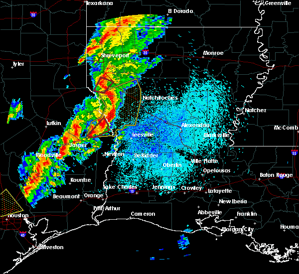 Radar Image for Severe Thunderstorms near Fisher, LA at 3/24/2017 10:35 PM CDT