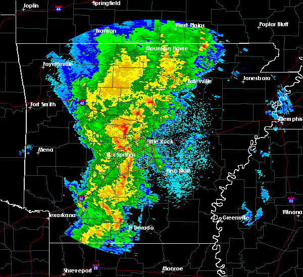 Radar Image for Severe Thunderstorms near Woodson, AR at 3/24/2017 10:47 PM CDT