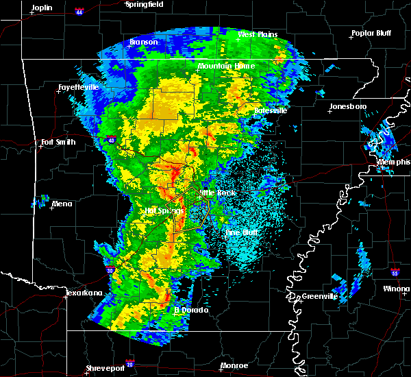 Radar Image for Severe Thunderstorms near Woodson, AR at 3/24/2017 10:59 PM CDT