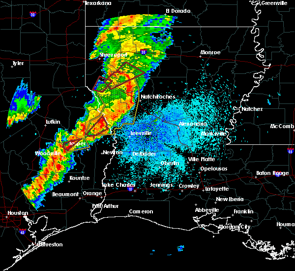 Radar Image for Severe Thunderstorms near Hodge, LA at 3/24/2017 11:03 PM CDT