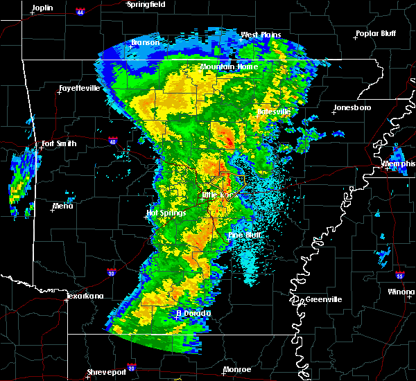 Radar Image for Severe Thunderstorms near Bradford, AR at 3/24/2017 11:39 PM CDT