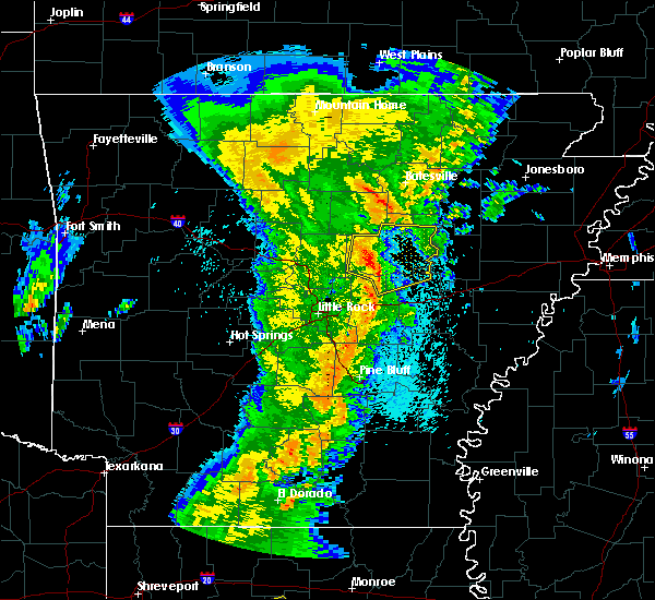 Radar Image for Severe Thunderstorms near Bradford, AR at 3/24/2017 11:48 PM CDT