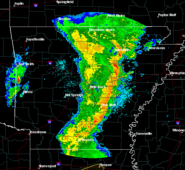Radar Image for Severe Thunderstorms near Newark, AR at 3/25/2017 12:18 AM CDT
