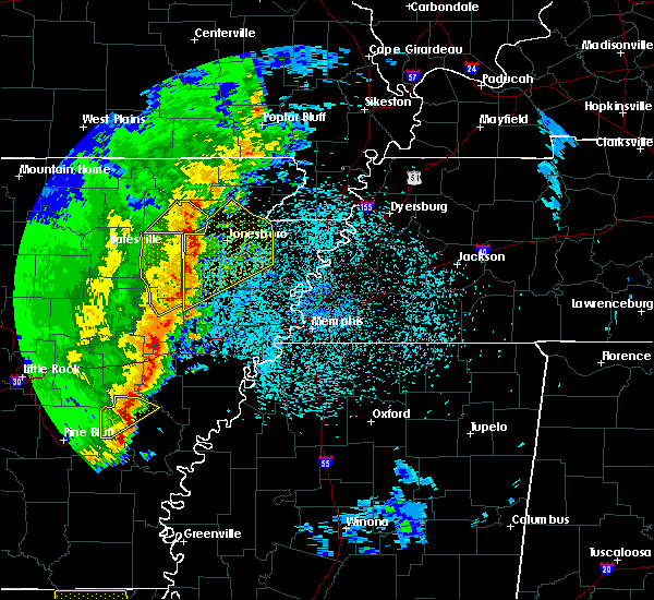 Radar Image for Severe Thunderstorms near Trumann, AR at 3/25/2017 12:58 AM CDT