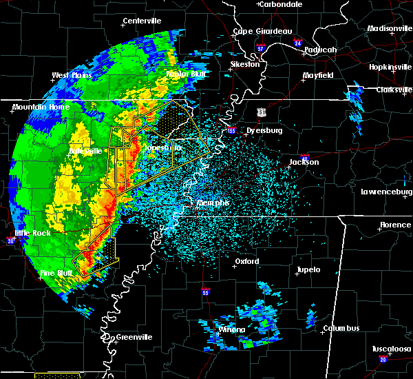 Radar Image for Severe Thunderstorms near Paragould, AR at 3/25/2017 1:13 AM CDT