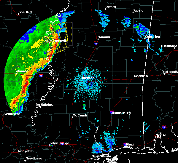 Radar Image for Severe Thunderstorms near Ruleville, MS at 3/25/2017 2:46 AM CDT