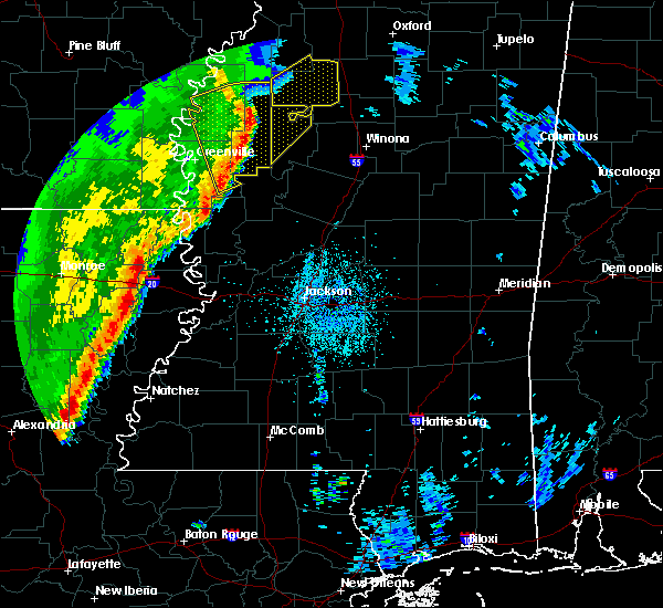 Radar Image for Severe Thunderstorms near Schlater, MS at 3/25/2017 3:14 AM CDT