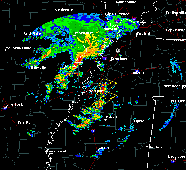 Radar Image for Severe Thunderstorms near Blytheville, AR at 3/27/2017 11:57 AM CDT