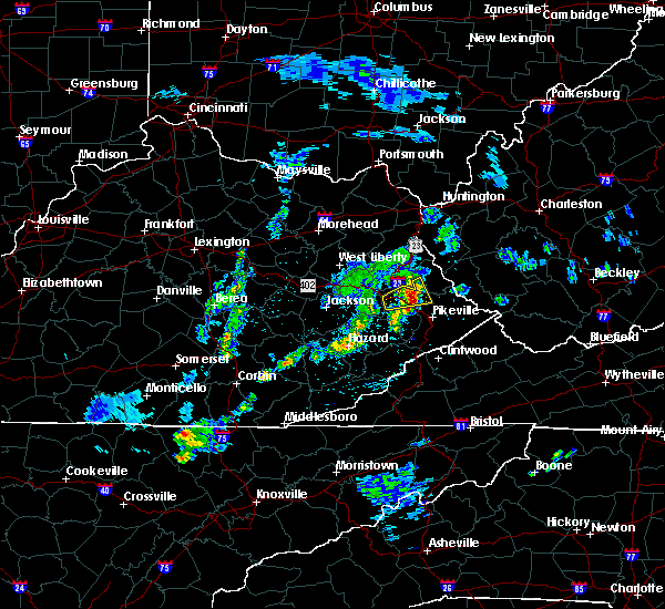 Radar Image for Severe Thunderstorms near Prestonsburg, KY at 3/27/2017 2:34 PM EDT