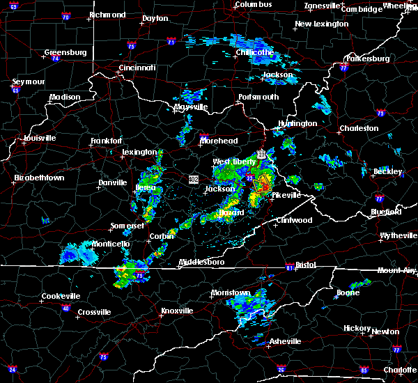 Radar Image for Severe Thunderstorms near Warfield, KY at 3/27/2017 2:47 PM EDT