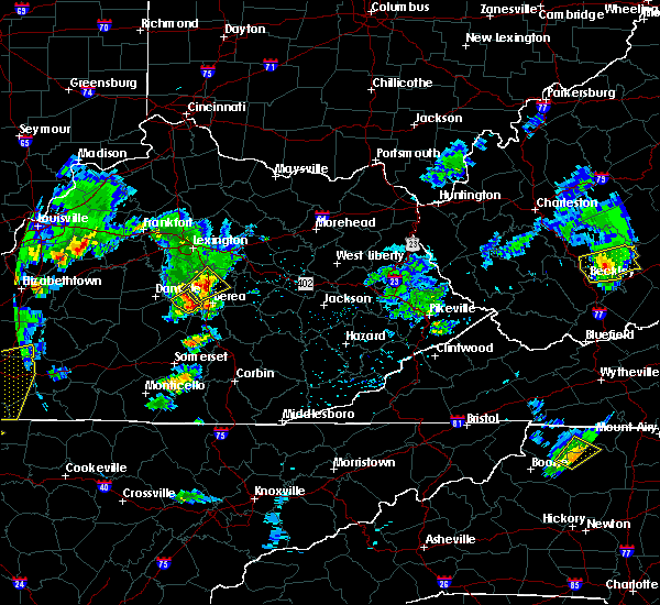 Radar Image for Severe Thunderstorms near Lancaster, KY at 3/27/2017 5:38 PM EDT