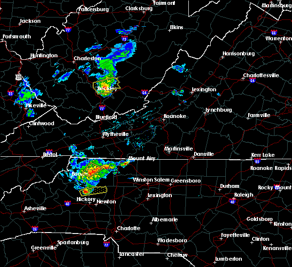 Radar Image for Severe Thunderstorms near Taylorsville, NC at 3/27/2017 5:40 PM EDT