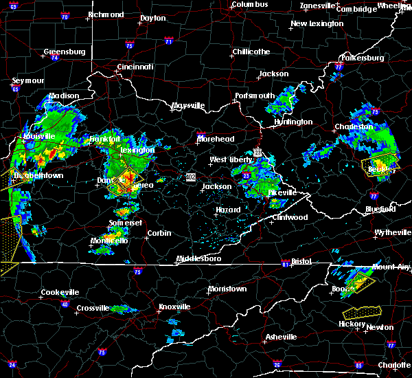 Radar Image for Severe Thunderstorms near Lancaster, KY at 3/27/2017 5:44 PM EDT