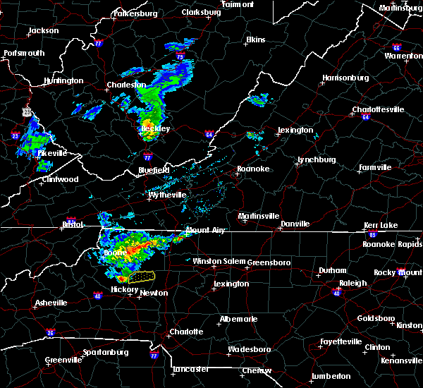 Radar Image for Severe Thunderstorms near Taylorsville, NC at 3/27/2017 6:13 PM EDT