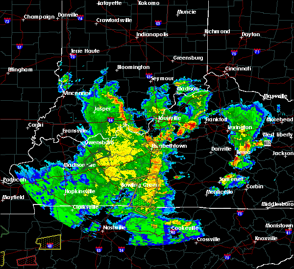 Radar Image for Severe Thunderstorms near Frankfort, KY at 3/27/2017 6:16 PM EDT