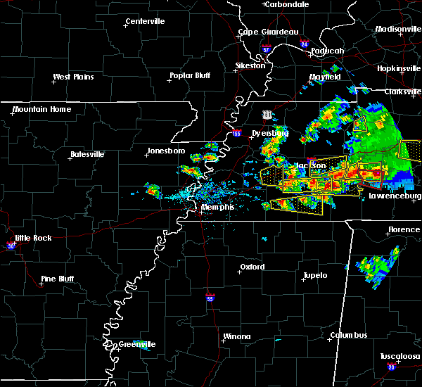 Radar Image for Severe Thunderstorms near Brownsville, TN at 3/27/2017 6:00 PM CDT