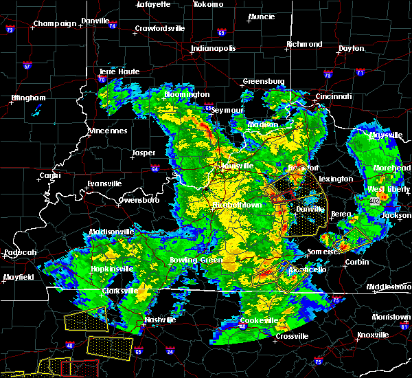 Radar Image for Severe Thunderstorms near Midway, KY at 3/27/2017 7:09 PM EDT