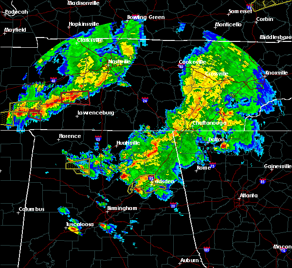 Radar Image for Severe Thunderstorms near Attalla, AL at 3/27/2017 6:46 PM CDT