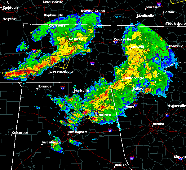 Radar Image for Severe Thunderstorms near Douglas, AL at 3/27/2017 7:08 PM CDT