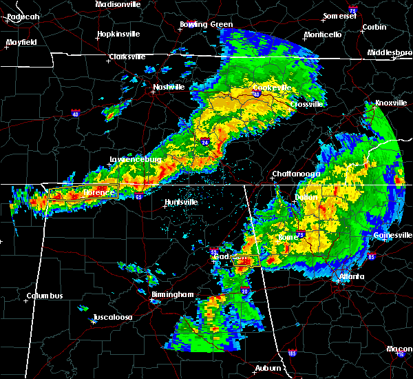 Radar Image for Severe Thunderstorms near Ballplay, AL at 3/27/2017 9:05 PM CDT