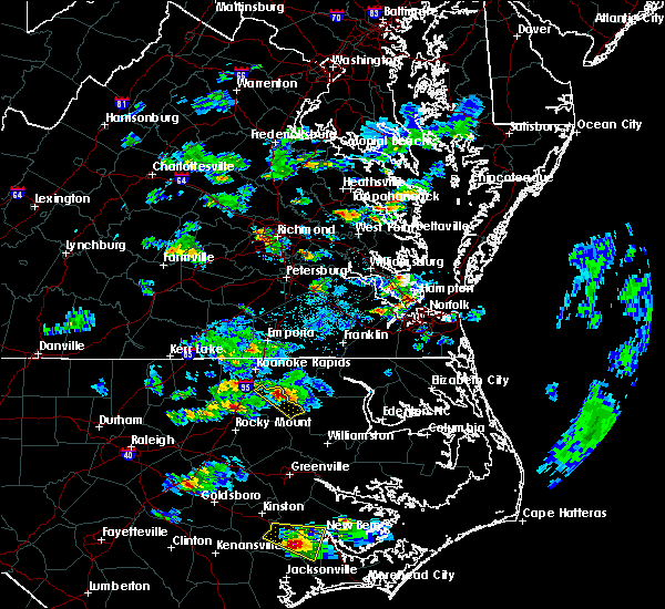 Radar Image for Severe Thunderstorms near Scotland Neck, NC at 3/28/2017 4:48 PM EDT
